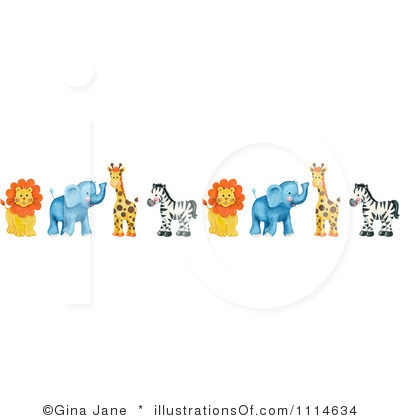 Baby Elephant Clip Art Baby Shower wild animal clipart bo...
