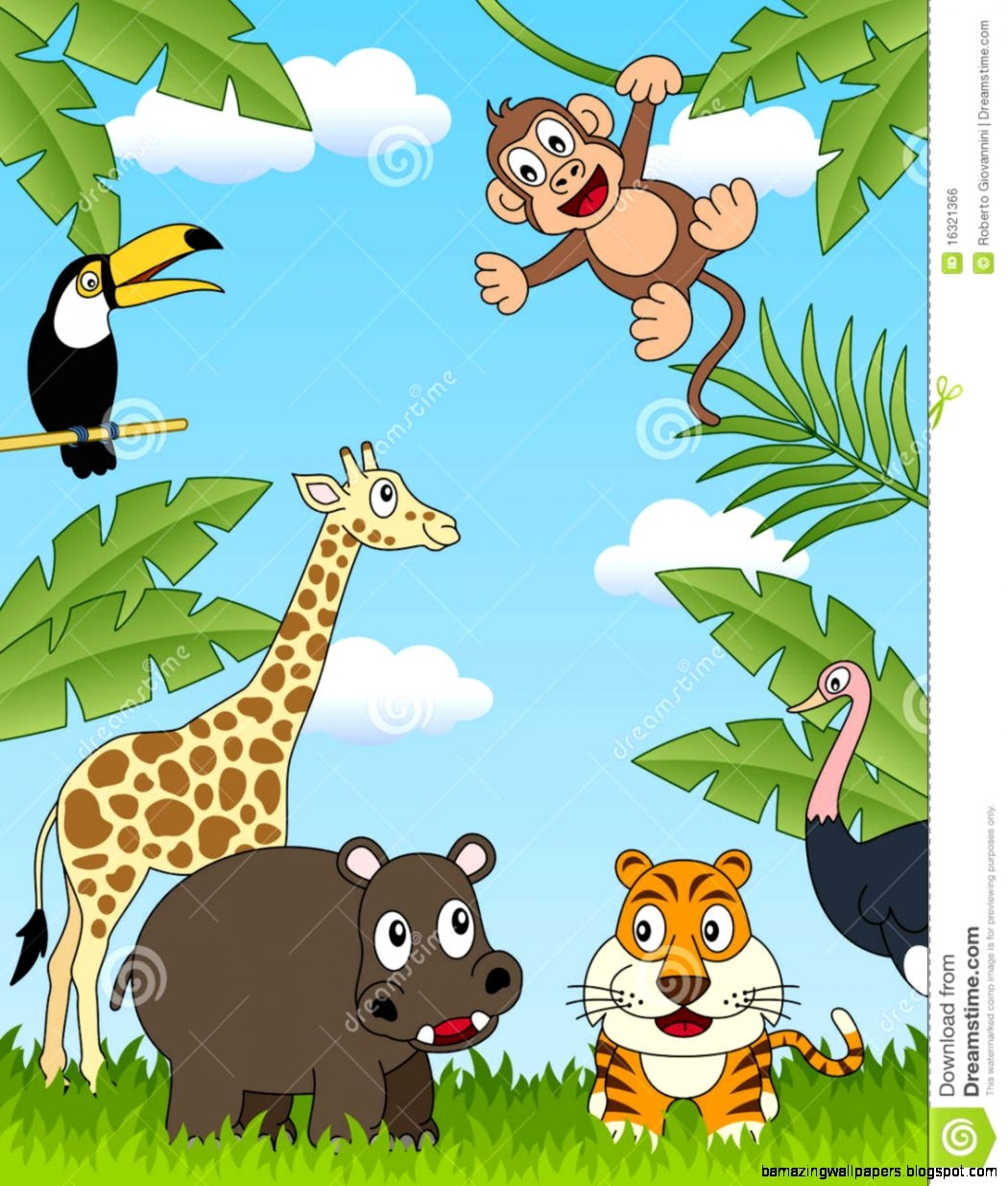 Wild animals clipart for kids.