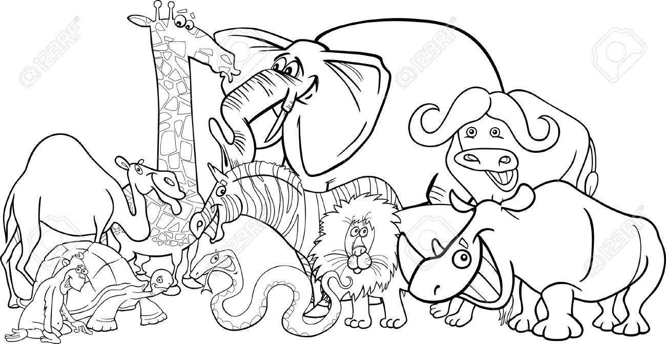Wild animals clipart black and white 3 » Clipart Station.