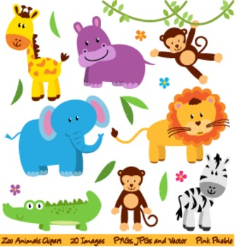 Zoo, Safari and Wild Animals Clipart and Vectors.