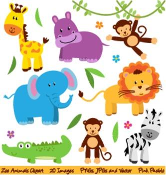 Zoo, Safari and Wild Animals Clipart and Vectors.