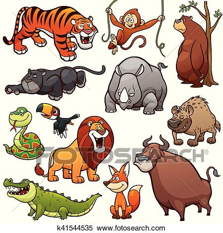 Wild Animals Clipart.