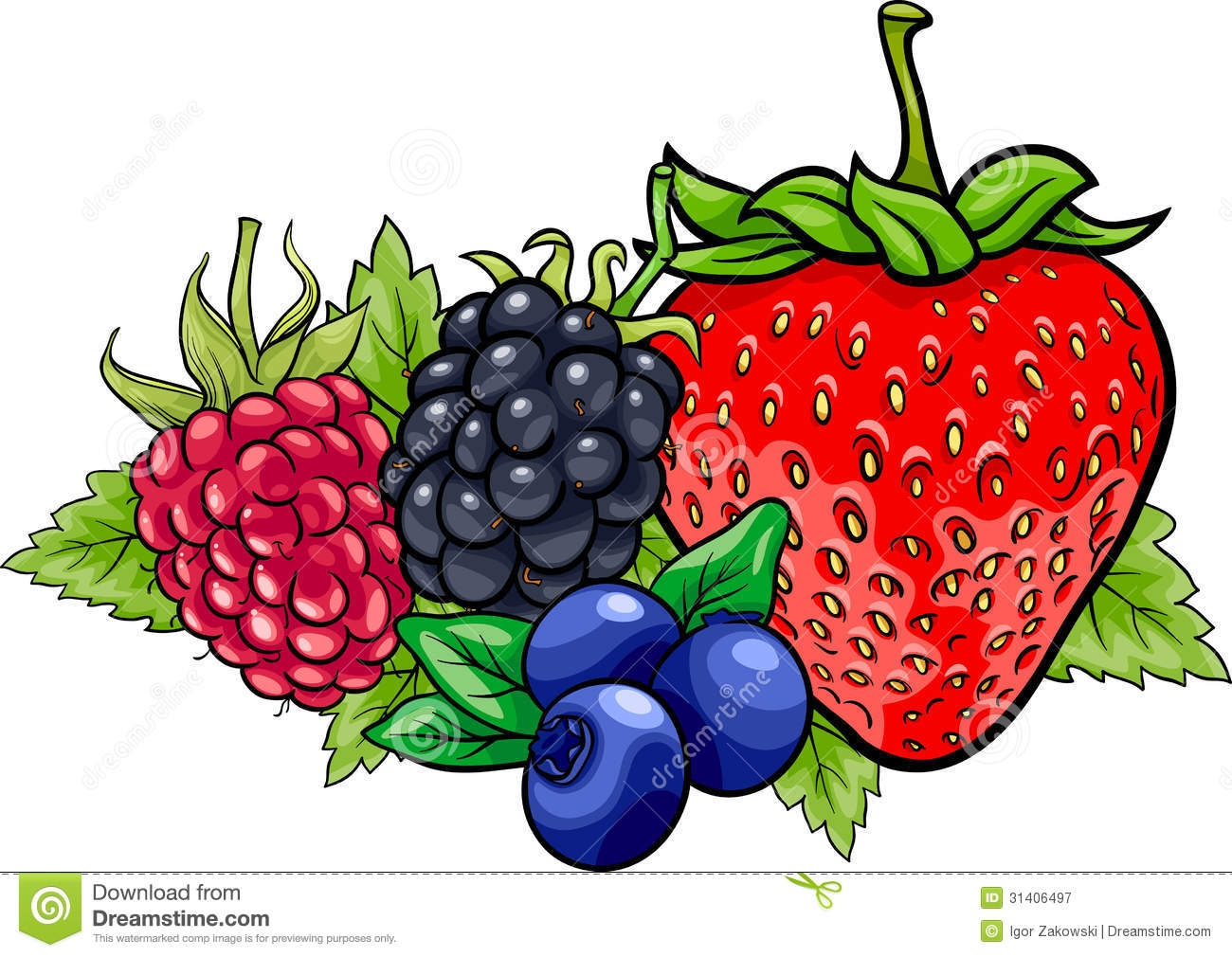 Animated mixed fruit clipart.