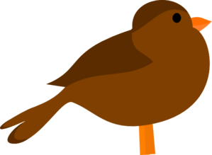 Brown Bird Clip Art at Clker.com.