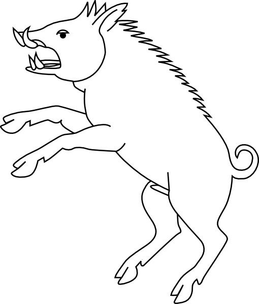 Wild Boar clip art Free vector in Open office drawing svg.