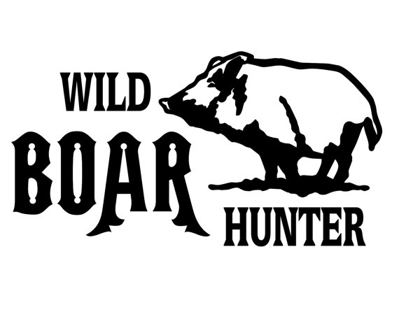 Wild Boar Hunter Decal , Hog Hunting Sticker , Hog Hunter Decal.