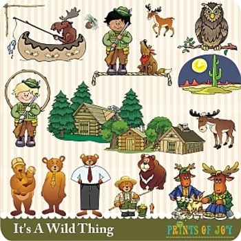 In the Wild Camping Clipart Graphics.