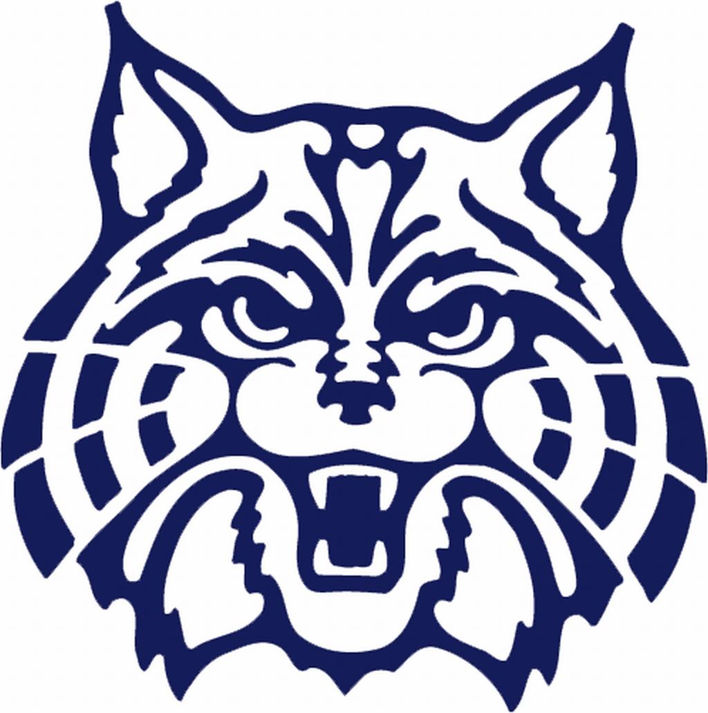 Wildcat Logo Blue clip art.