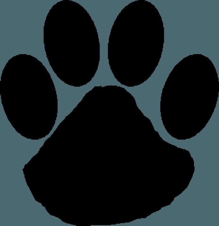 Wildcat Paw Clip art.