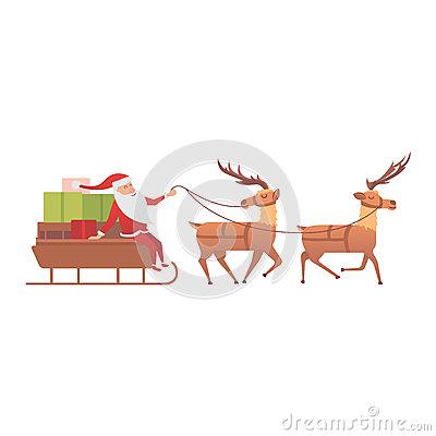 Cartoon Deer Vector Animal Stock Vector.