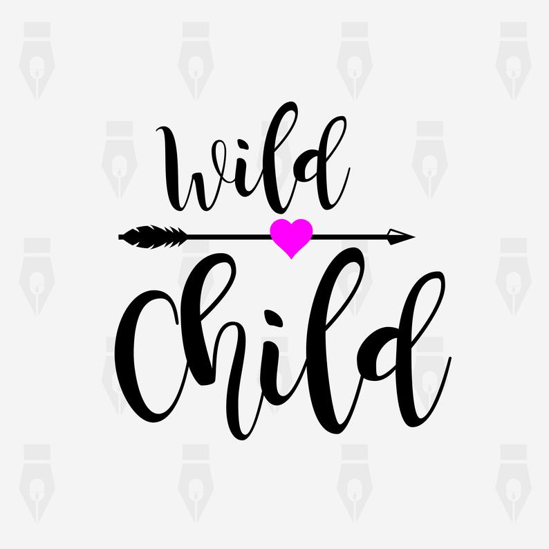 Wild Child svg, Wild Child digital clipart file for Design, Printing,  Cutting or more. Instant files included svg, png, dxf.