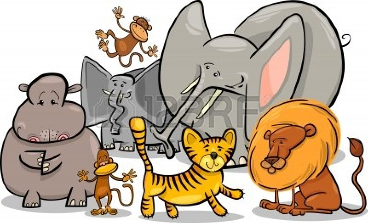 Clipart Of Wild Animals.