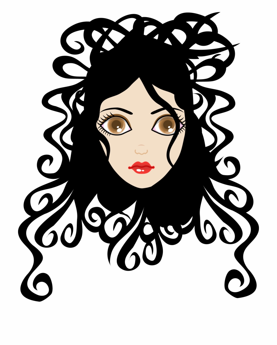 28 Collection Of Curly Hair Clipart Png.