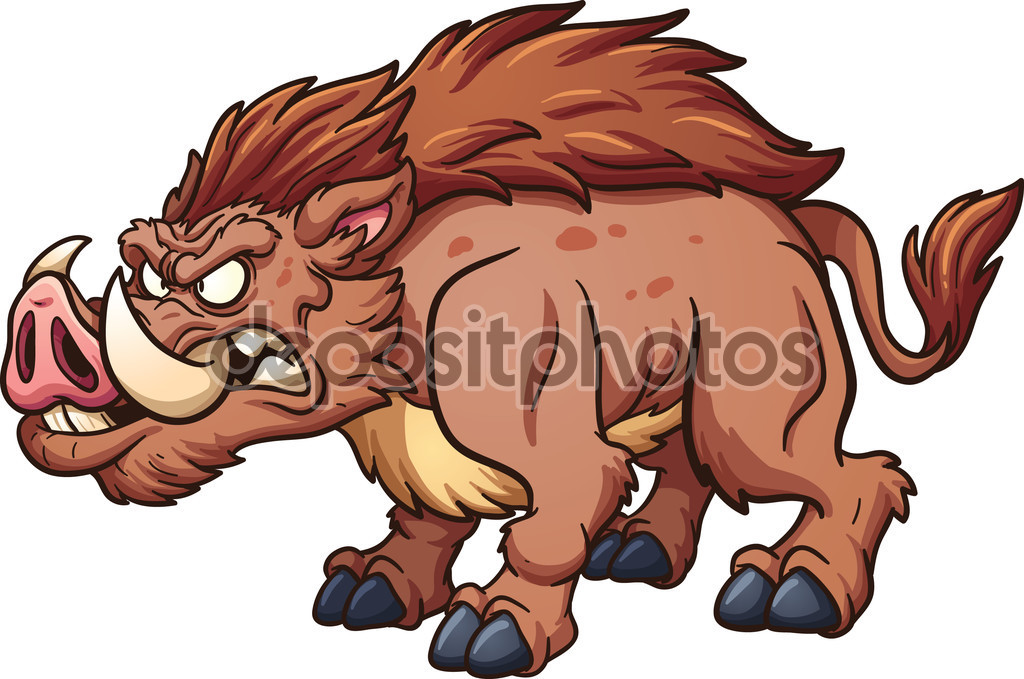 Wild boar — Stock Vector © memoangeles #75220177.