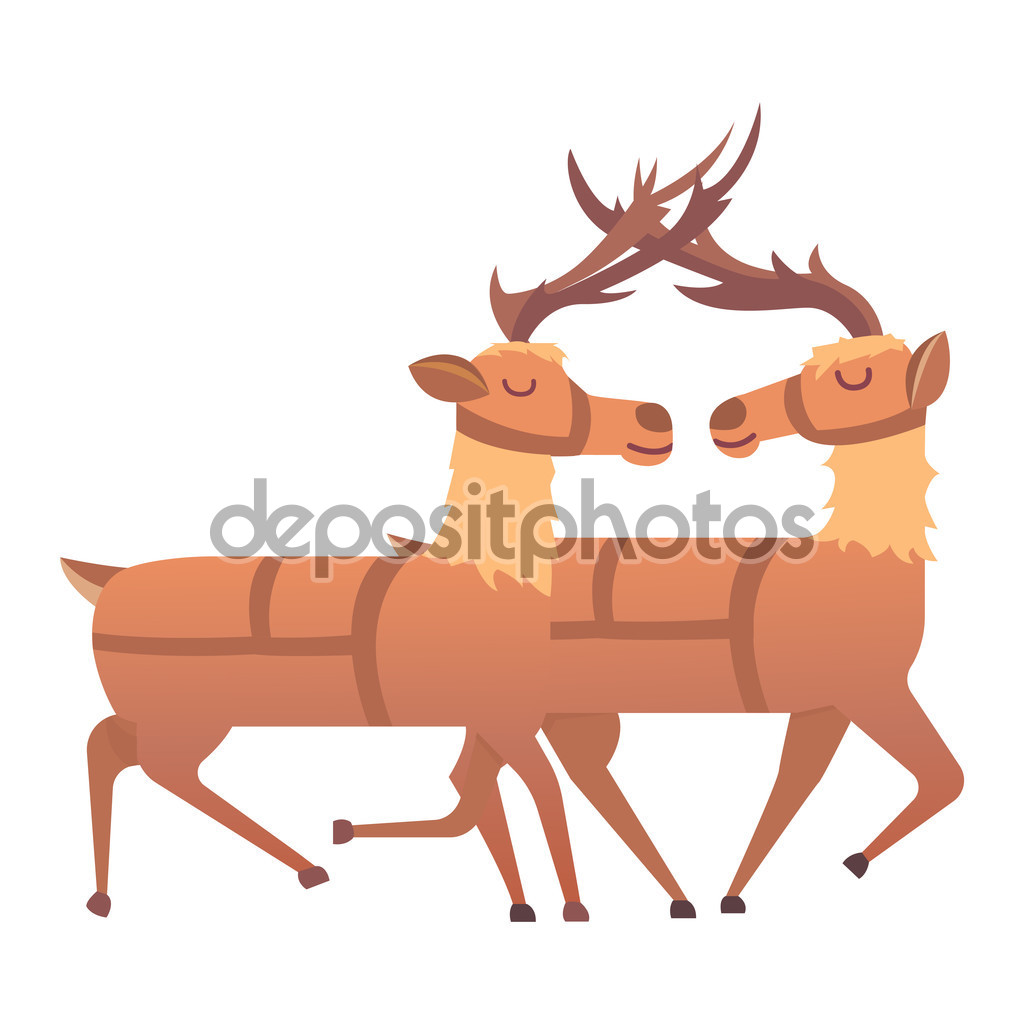 Cartoon deer vector animal — Stock Vector © VectorShow #124897560.