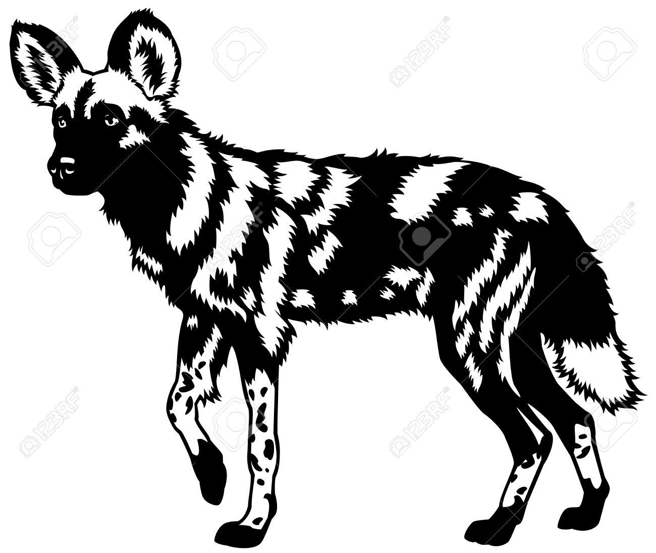 Wild dog clipart.