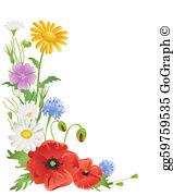 Wildflower Clip Art.