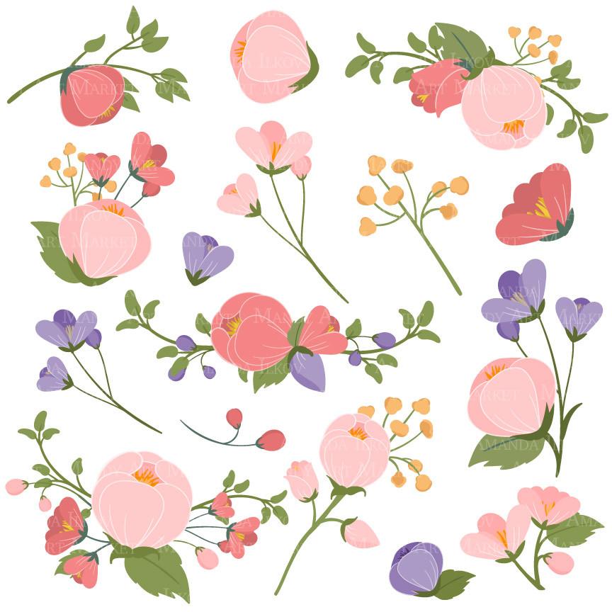 Flower Clipart in Wildflowers.
