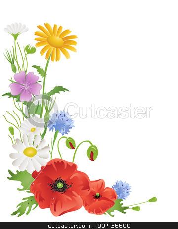 Wild Flower Clip Art.