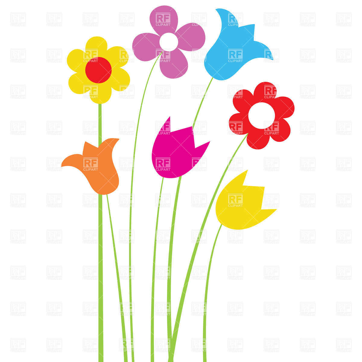 Wildflowers clipart 5 » Clipart Station.