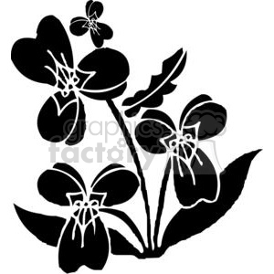 wild flowers clipart. Royalty.