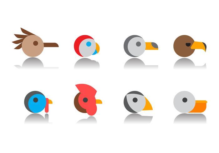 Free Bird Head Icon Vector.