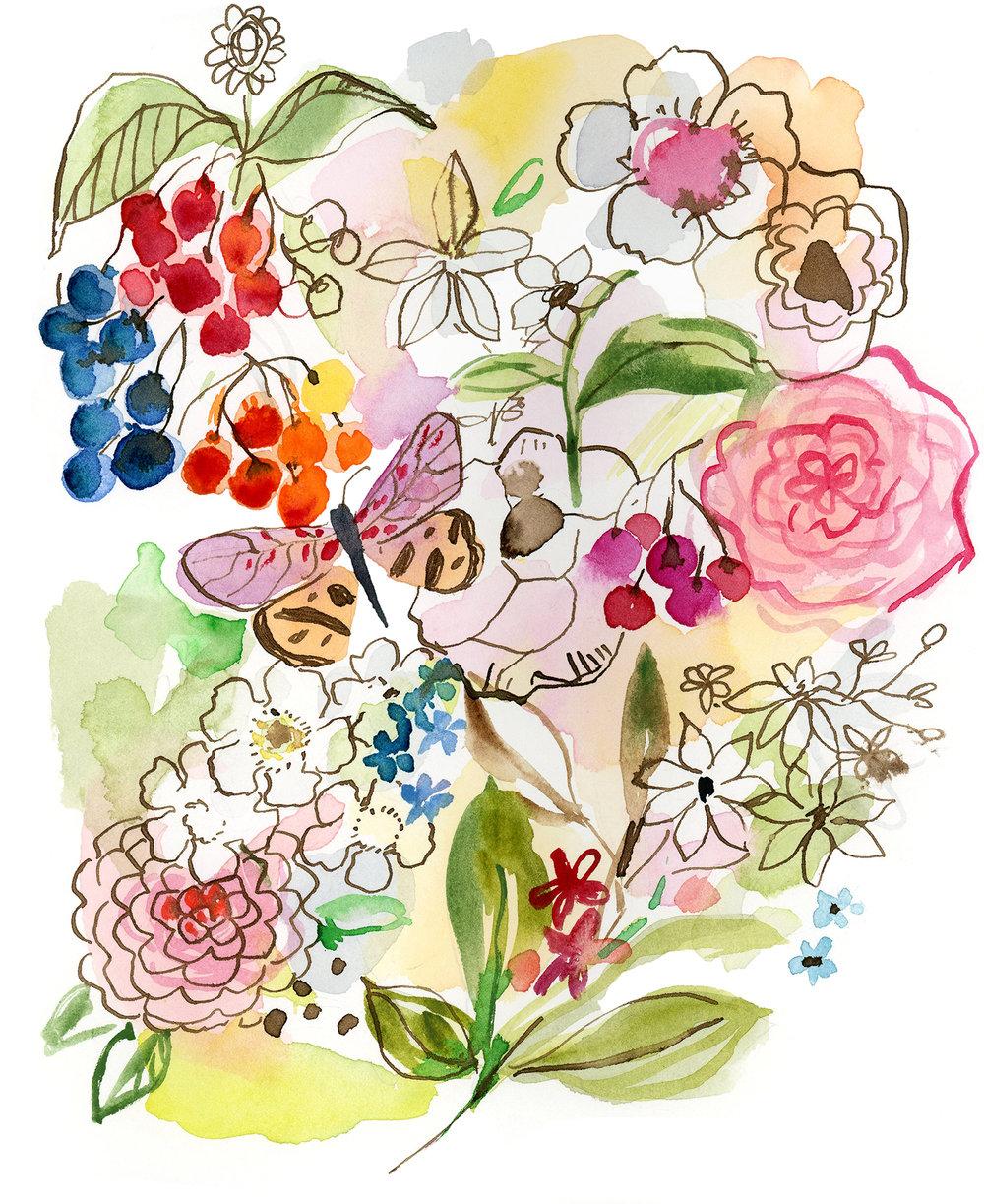 Watery Wild Garden — Jennifer Nelson Artists.