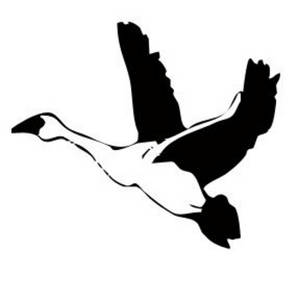 Flying Goose Clipart Black And White.
