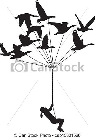 Wild geese Clipart Vector Graphics. 737 Wild geese EPS clip art.
