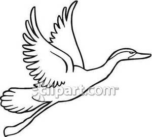 Goose Black And White Clipart.