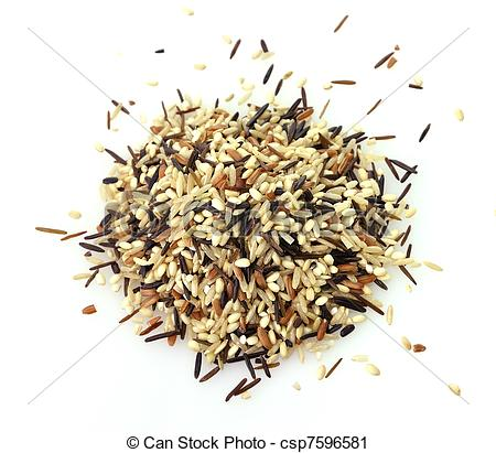 Stock Photography of wild rice blend.