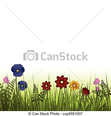 Vectors Illustration of wild flowers.