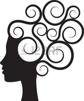 silhouette face: Silhouette of woman.