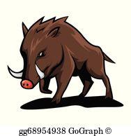 Wild Boar Clip Art.