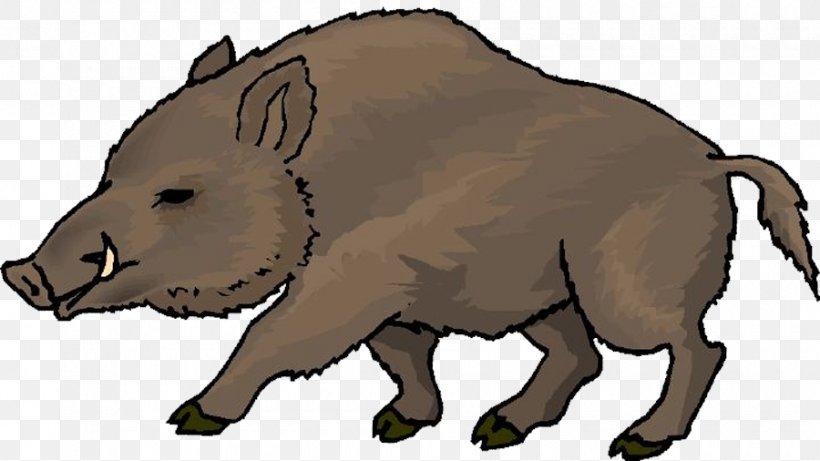 Wild Boar Clip Art, PNG, 900x506px, Wild Boar, Animal Figure.