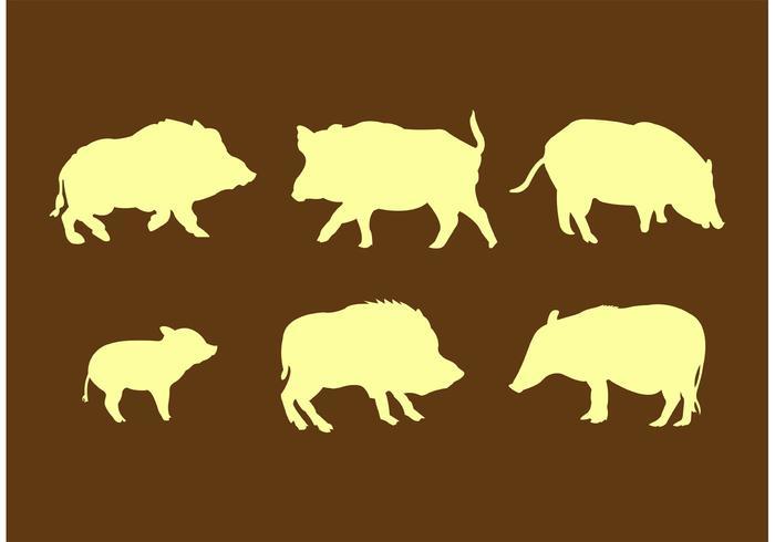 Wild Hog Silhouettes.