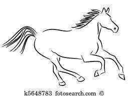 Wild horse Clip Art Vector Graphics. 7,654 wild horse EPS clipart.