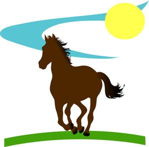 Wild horse clipart.