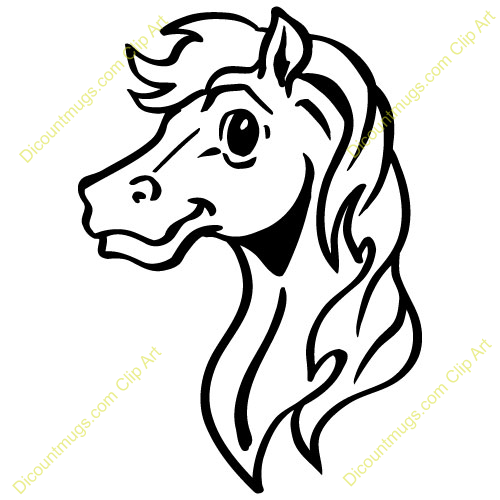 Head Horse Drawing.