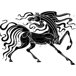 wild horse design clipart. Royalty.