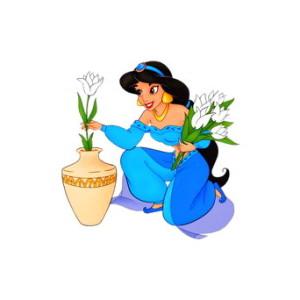 Disney's Aladdin Movie Princess Jasmine Clipart.