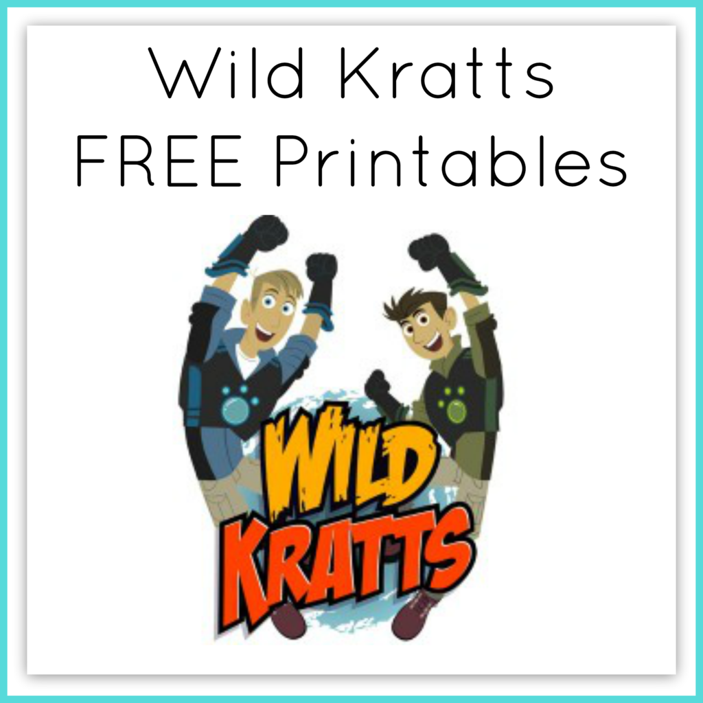 Wild Kratts Printable Worksheets Curriculum.