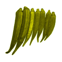 Ladyfinger Clipart Picture, Ladyfinger Gif, Png, Icon Image.