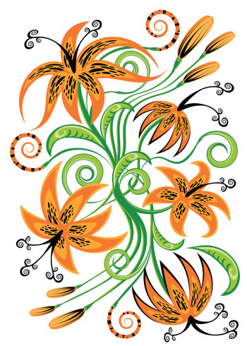 Tiger Lily Clip Art, Vector Images & Illustrations.