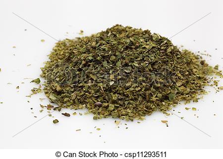 Stock Photography of Wild marjoram origanum spice used in.