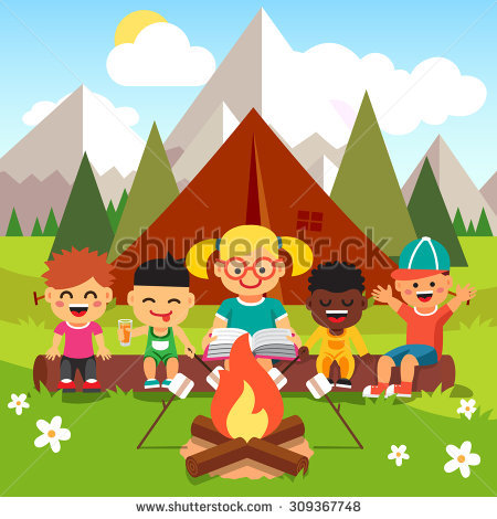 Children Bonfire Stock Photos, Royalty.