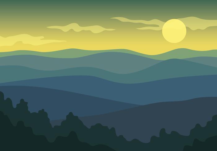 Mountain Landscape View.