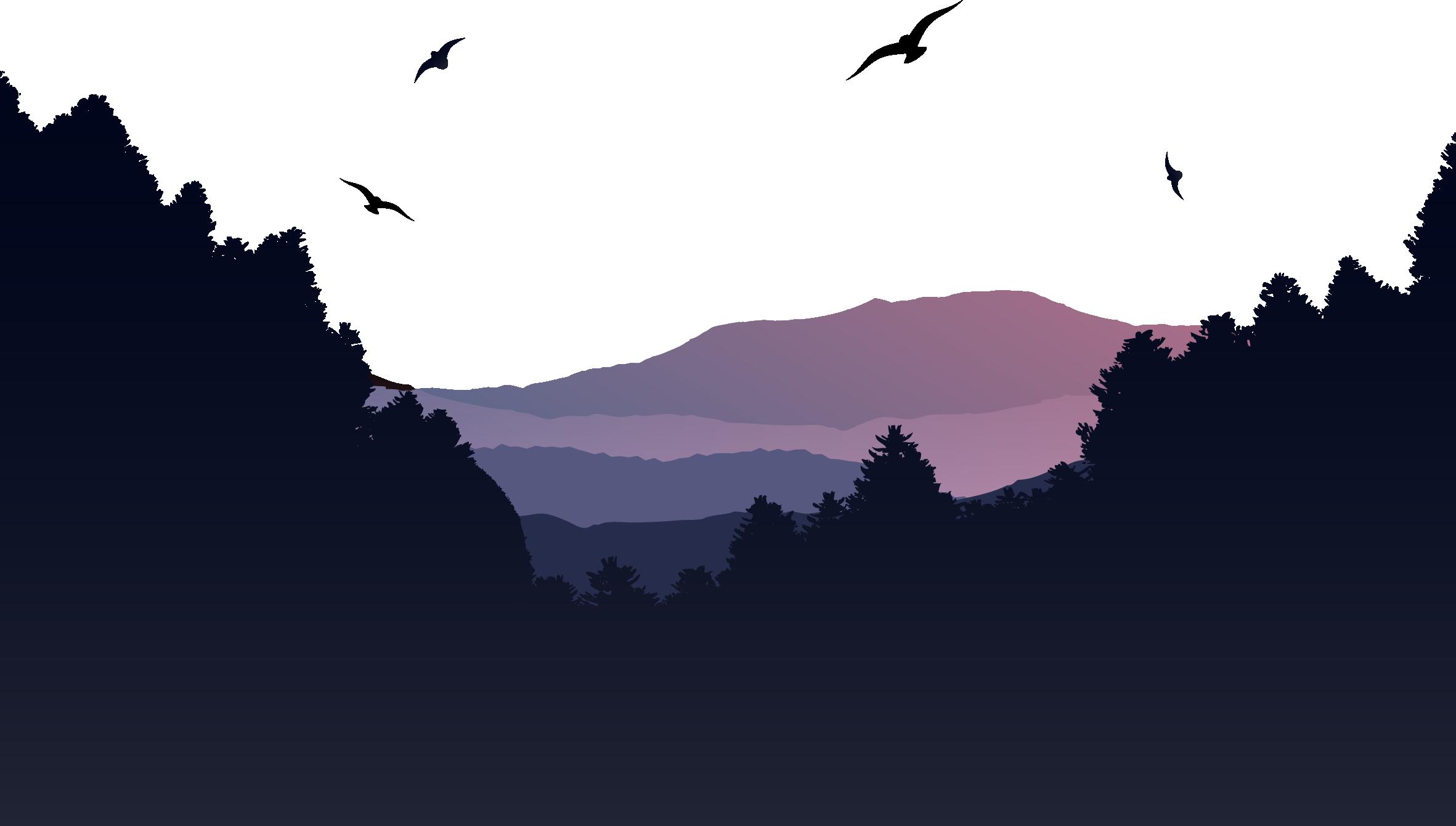 Mountain Euclidean vector Landscape.