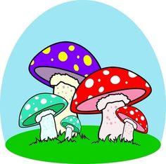 mushroom drawing.
