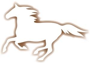 Wild horses clipart.